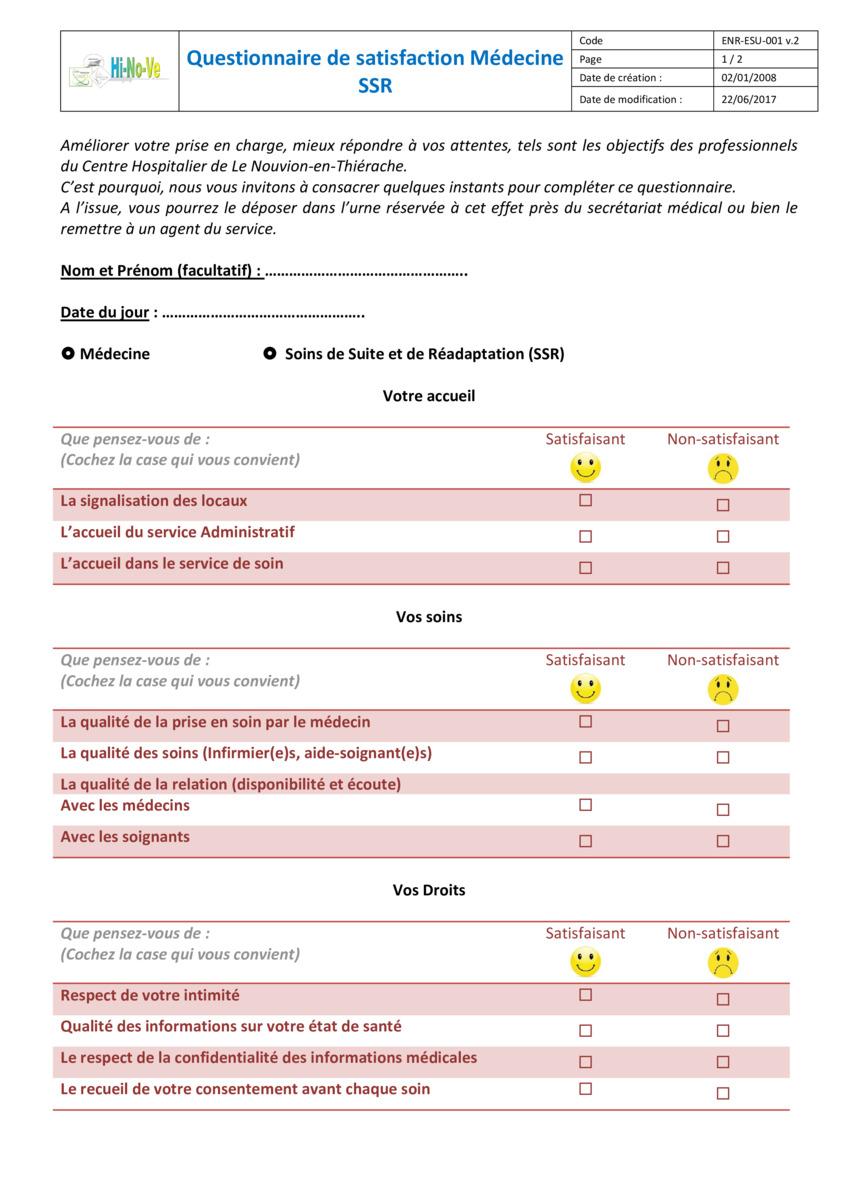 Favori Questionnaires téléchargeables LH34